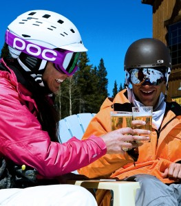 Breck Beer after skiing