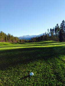 The incredible views at the Breckenridge Golf Course.