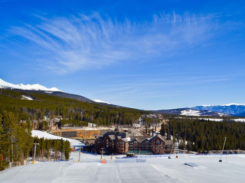 beautiful skies here in Breck