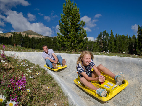 Activities at the Peak 8 Fun Park at Breckenridge, Colorado.