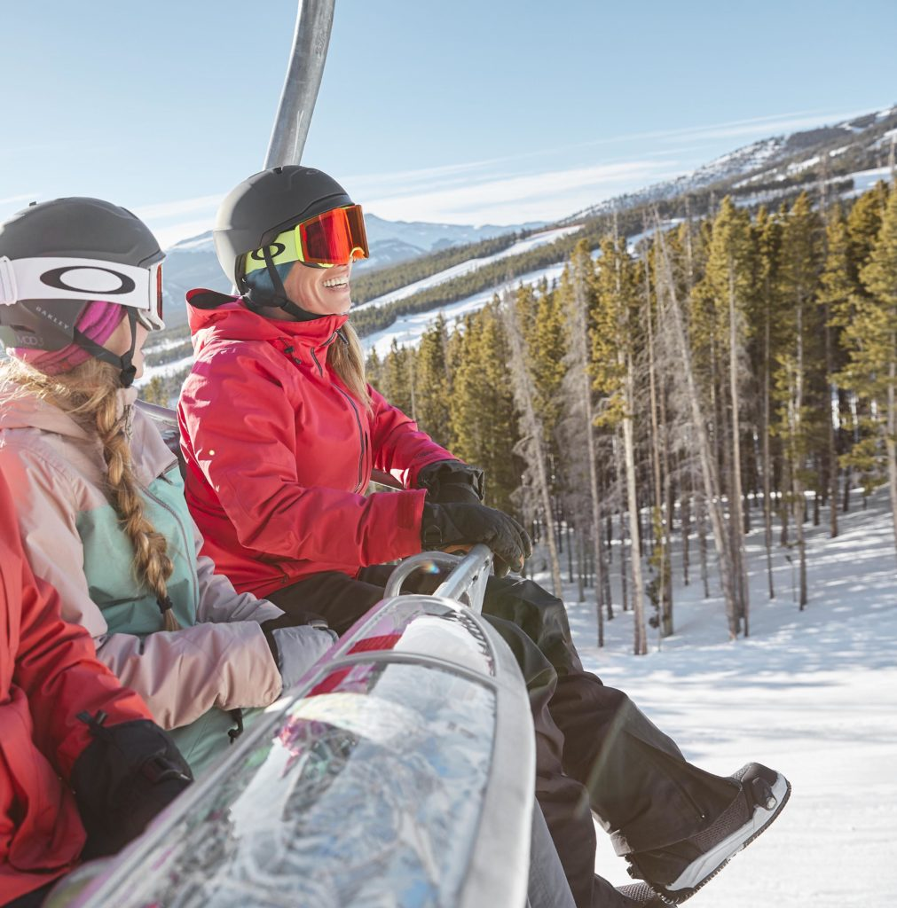 Women on Breck chairlift